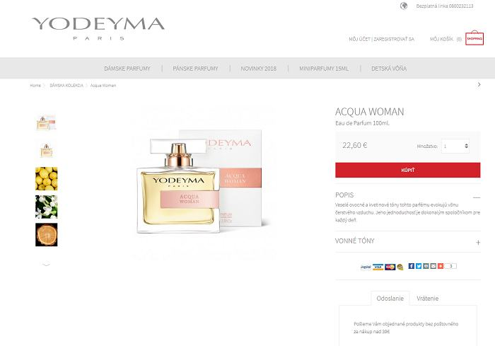 5d098f5df6 Detail produktu Acqa woman Yodeyma.sk